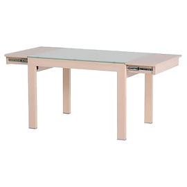 Red apple glass surface opening and closing dining table - TR221-42