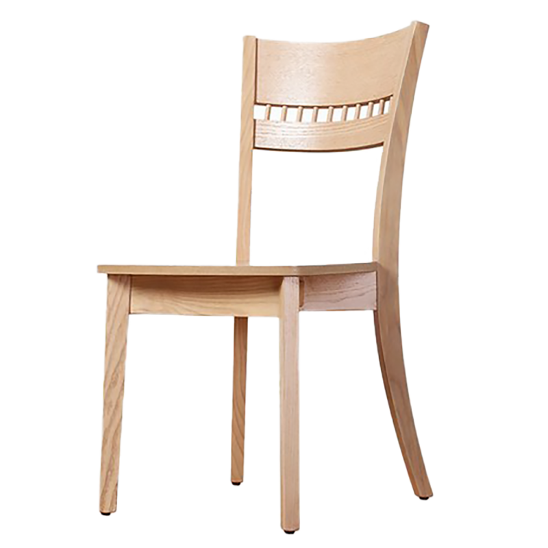 four solid wood dining chairs - R465B