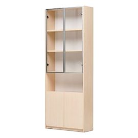 RED APPLE WOODEN BOOKCASE WITH HINGED DOORS TR732 - 0.8