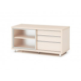 Red Apple glass sliding door TV cabinet with three barrels-R083-48