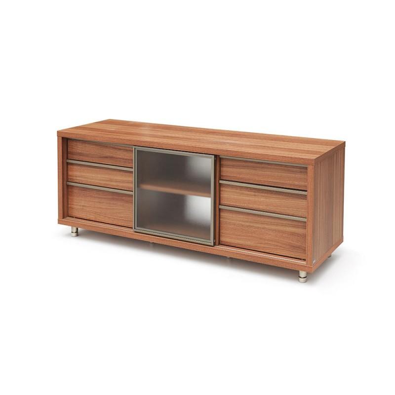 Red Apple glass sliding door three-layer drawer TV cabinet - TR083-60