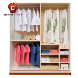 RED APPLE WOODEN WARDROBE WITH 2 SLIDING DOORS TR921T-1.5