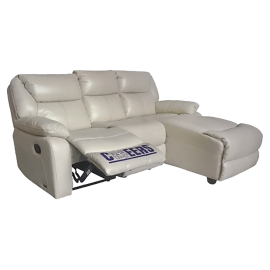 CHEERS Three Seater Genuine Leather Cover Chaise Lounge Sofa - 9502