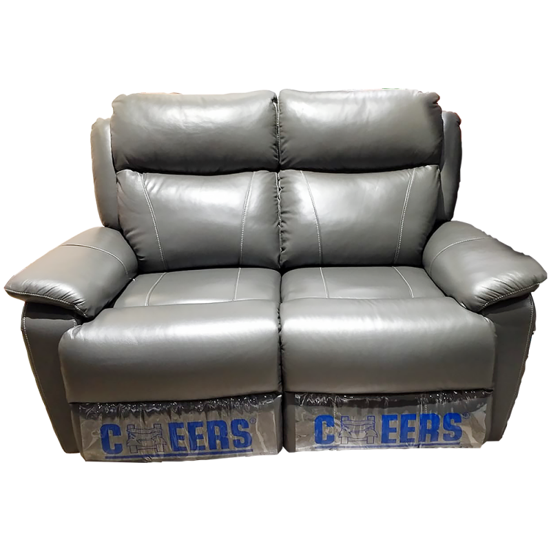 CHEERS Two Seater Genuine Leather Cover Electric Sofa - 8855