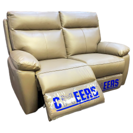 CHEERS Two Seater Genuine Leather Cover Electric Sofa - 5590