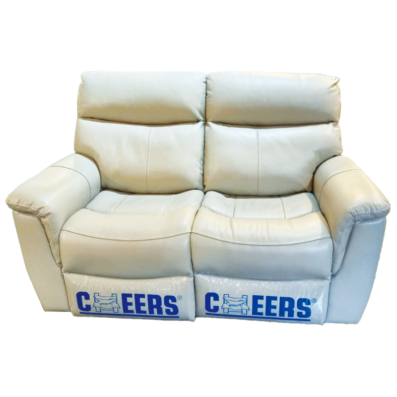 CHEERS Two Seater Genuine Leather Cover Electric Sofa - 10027