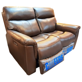 CHEERS Two Seater Genuine Leather Cover Electric Sofa - 10027(2003)