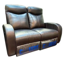 CHEERS Two Seater Genuine Leather Cover Electric Sofa - 8159