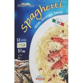 Italy Borggardens Spaghetti With Shrimps Sauce 160g.