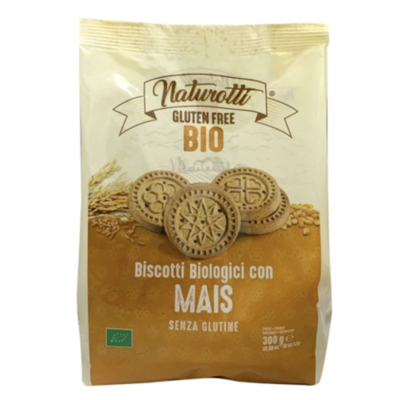 Italy Naturotti Organic Gluten Free Corn Biscuits 300g.[Buy One Get Two Free]