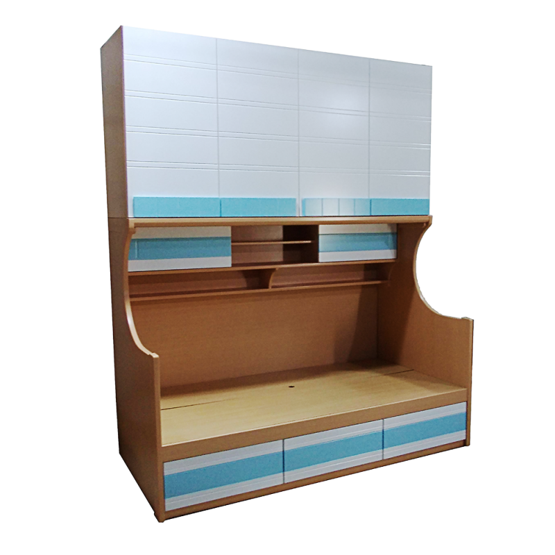 Loft Bed Combo With Wardrobe And 3 Drawers 1403-36