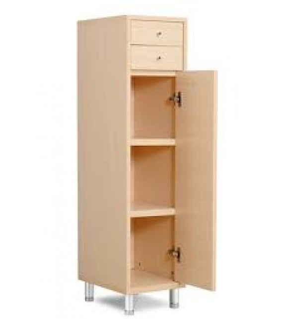 RED APPLE CABINET WITH 2 DRAWERS + 2 DOORS R594