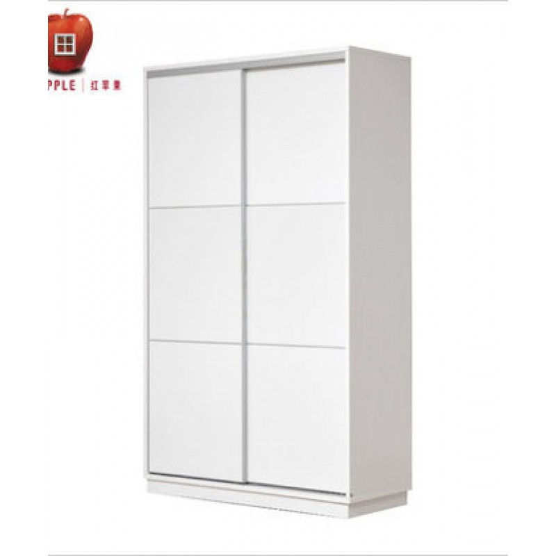 RED APPLE WOODEN WARDROBE WITH 2 SLIDING DOORS R921T-1.5