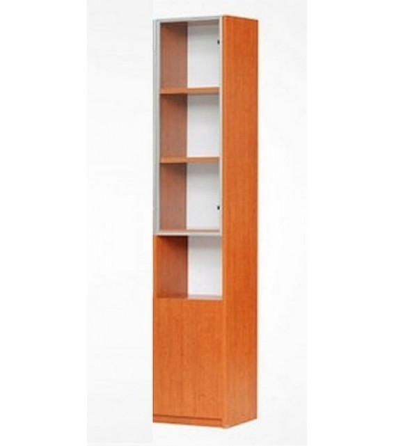 RED APPLE WOODEN BOOKCASE WITH HINGED DOORS R732-0.4