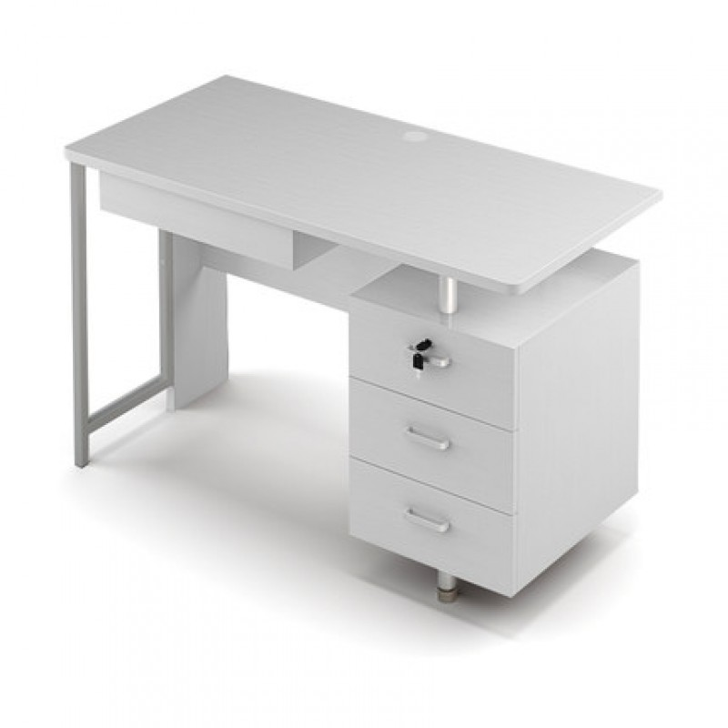 RED APPLE WOODEN DESK WITH 4 DRAWERS E730T-1.0