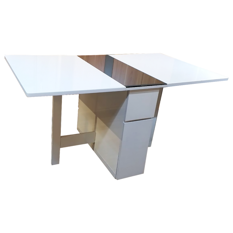 White/Grey Glass Gateley Dinning Table FT006N