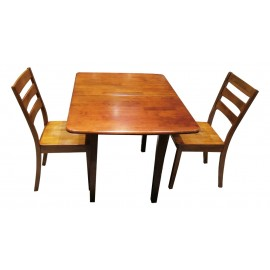 Gateleg Dinning Table With Two Chairs From Malaysia MTS-A53F-OAK