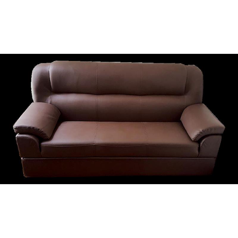 3 Seats Semi Leather Storage Sofa Bed 332