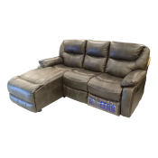 Cheers Reclining Manual Mechanism Sofa (Leathaire) 9502M