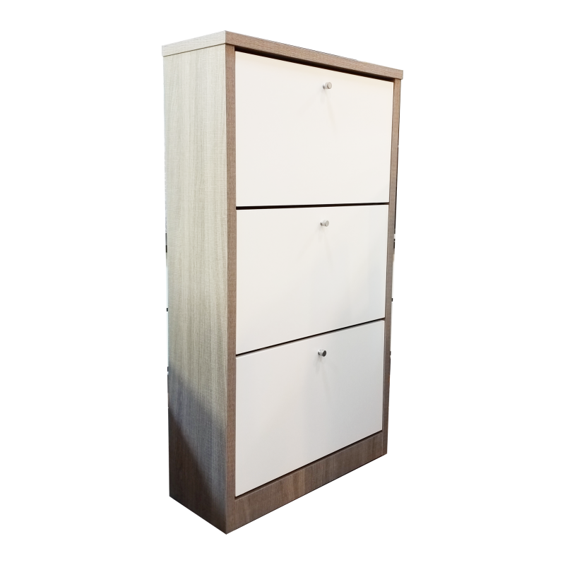 """WOODEN SHOES CABINET WITH 3 LAYERS 24"""""""