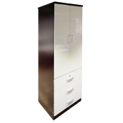 """Wardrobe With 2 Hinged Doors And 3 Drawers 24"""" A08-324"""