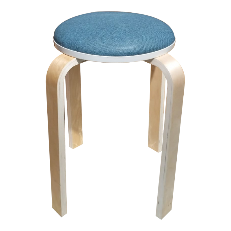 Wooden Round Stool With Fabric Cover TF-01