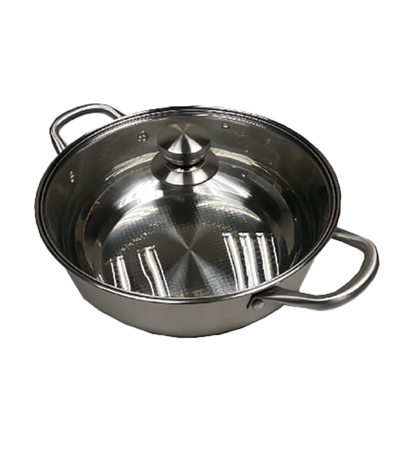 30cm Stainless steel Functional Boiler with glass lid